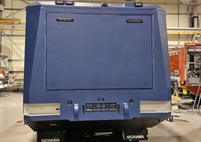 ASL GRP attack resistant composite truck scania