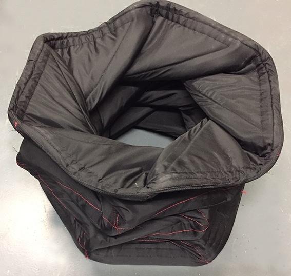 folded blast containment bin